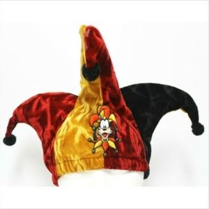 VTG 90s Disney Goofy Jester Hat Red/Black/Gold Cru